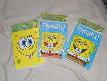 Brand new Spongebob invites and thank you cards
