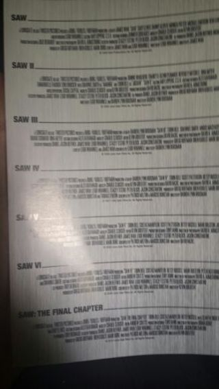 Saw the complete movie collection UV code