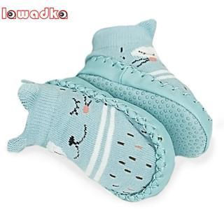 Lawadka Infant Baby Socks with Rubber Soles Floor Winter Baby Socks Boy Girls Anti Slip Leather Ch