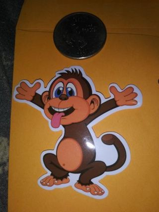 Monkey vinyl lab top sticker adorable lowest gins! No refunds! No lower