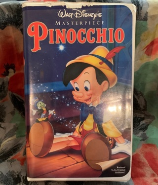 Original Hard Case! Pinocchio! VHS!