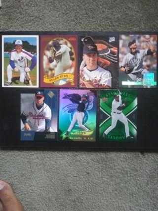 MLB HOF Lot of 7 (Rose, Ryan, Ripken, Griffey, Thomas, Jones & More)