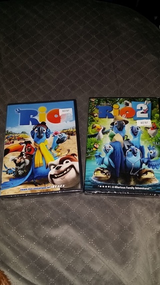 Brand New DVD in Case; You Choose, RIO or RIO 2 / GIN Gets Both DVDs / Free Shipping