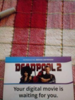 Deadpool 2 VUDU Code
