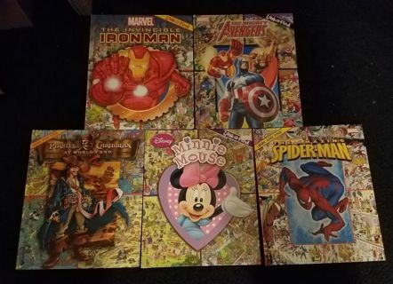 Mix Lot of 5 Childrens Look and Find Books