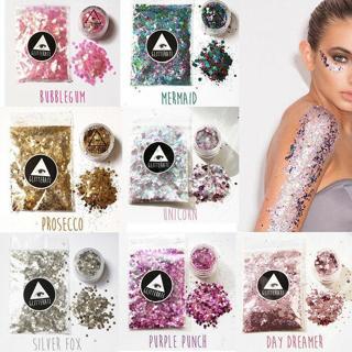 Chunky Glitter Pot Festival Face Nail Art Eye Body Tattoo Cosmetic   10g