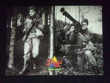 "1992 Elvis Presley ""Army Days"" Trading Card #52"