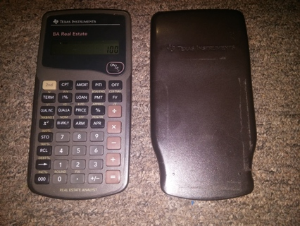 Texas Instruments BA Real Estate Analyst Scientific Calculator