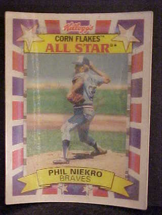 Free 1992 Phil Niekro All Star Kelloggs 3 D Baseball Card