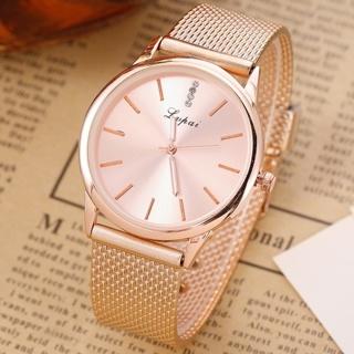 2019 Women Luxury Quartz Ladies Watch Clock Diamond Rose Gold
