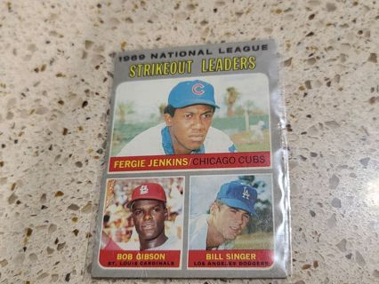 1970 National league Strike Out leaders 1970 card vintage baseball