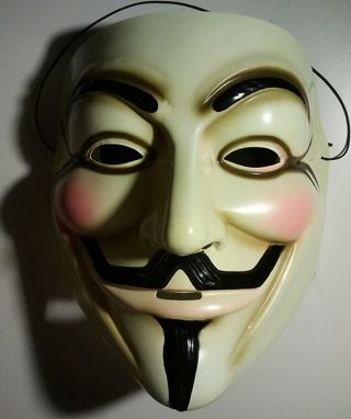 1 NEW Anonymous V for Vendetta Mask We Are Legion Guy Fawkes GIN