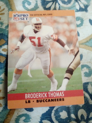 NFL pro set #659 Broderick Thomas