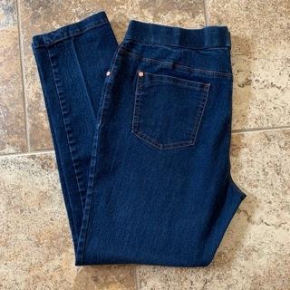 Like New Women's Dark Blue Denim Jeans Leggings (Jeggings) - Size 16