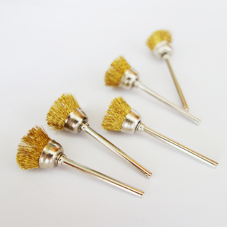 10Pcs 18mm Brass Wire Wheel Brushes For Grinder Rotary