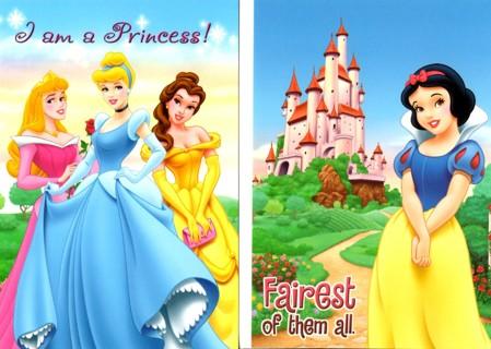 Disney Princess Postcards (2) Unused