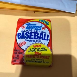1988 topps unopened pack of baseball cards