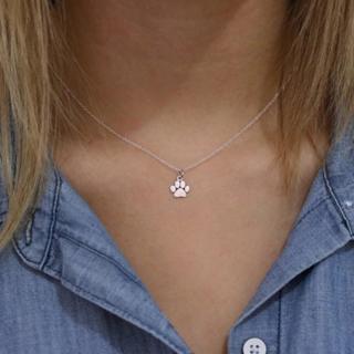 Moana Choker Kolye Fashion Pets Dogs Footprints Paw Chain Pendant Necklace Necklaces & Pendants Je