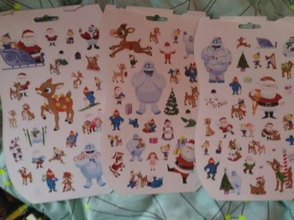 Christmas Rudolph 3 full sheets Lowest gins No refund! No lower selling out deals!