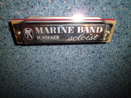 VINTAGE M HOHNER MARINE BAND HARMONICA GERMANY UNUSED FREE SHIPPING!