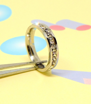 Stainless Steel Ring w/CZ Size 7 ~ 3mm width