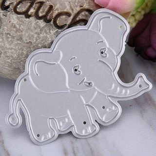 silver Elephant Cutting Dies Stencil DIY Album Scrapbooking Paper Card Craft new