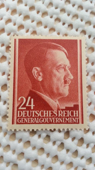 Hitler Birthday WWII, Poland, General Government, MNH, SnailMailGalPal