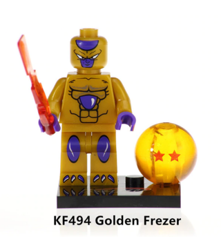 Dragon Ball Z Golden Frezer Building Blocks Kids Toys Collection
