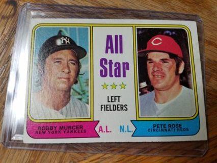1974 Topps baseball Pete Rose Bobby Murcer
