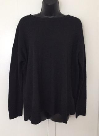 Gray Hip Length Sweater, Size Medium