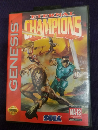 Eternal Champions SEGA Genesis Video Game Cartridge with Case/NO Manual