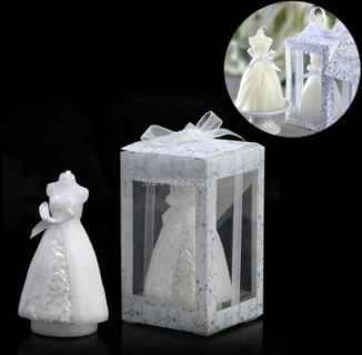 Elegant Boxed Bridal Bride Shape Candle