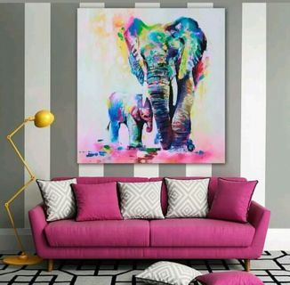 ABSTRACT ELEPHANT PAINTING PLEASE READ BELOW