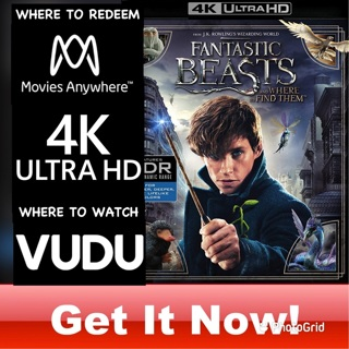 FANTASTIC BEASTS AND WHERE TO FIND THEM 4K MOVIES ANYWHERE OR VUDU CODE ONLY  REDEEM NOW