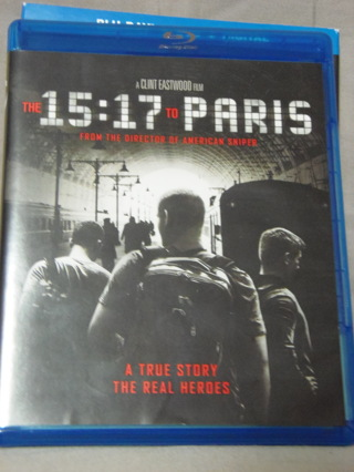 The 15:17 to Paris Blu-Ray DVD Combo