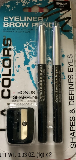 BN L. A. Colors Black Eyeliner and Eyebrow Pencils With An Sharpener. To Highest Bidder.