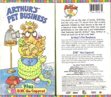 Free: ARTHUR'S PET BUSINESS – VHS – GOOD Condition – FREE