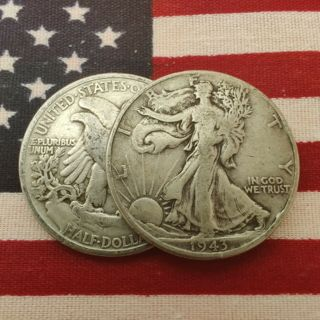 [Lot of 2] Walking Liberty Half Dollar 1916-1947 Silver