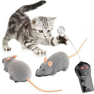 Wireless Remote Control RC Electronic Rat Mouse Mice Toy For Cat Puppy Gift KD47