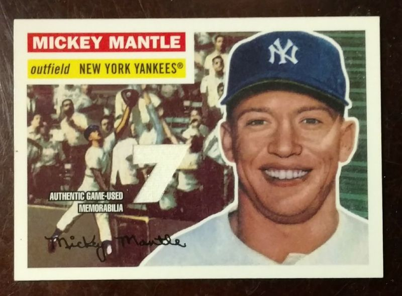 brand new f18e0 ba410 Free: MICKEY MANTLE GAME WORN JERSEY CARD - Sports Trading ...