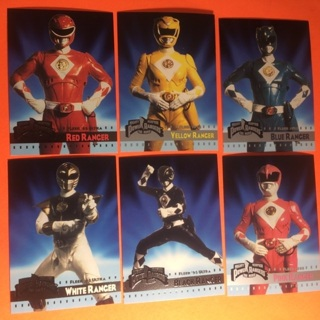 6 Power Rangers 1995 Cards!