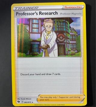 Professor's Research Pokemon Card