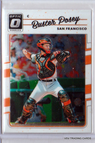 Buster Posey, 2017 Panini Donruss Optic Card #134, San Francisco Giants