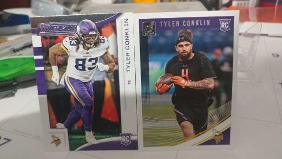 on sale 97498 cf80c Free: 2018 Tyler Conklin rookie cards Minnesota Vikings ...