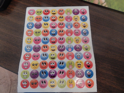 Colorful sheet of new SMILEY FACE EMOJI stickers
