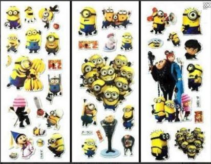 NEW Despicable Me MINIONS Stickers Super Cute PUFFY STICKERS FREE SHIPPING