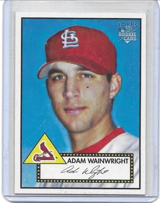 Adam Wainwright 2006 Topps 52 #183 Rookie Card