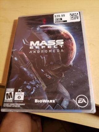 Sealed pc game mass effect
