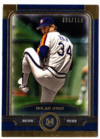 2019 Topps Museum Nolan Ryan Gold Variant #'d 95/150