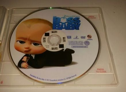 Brand New DreamWorks Boss Baby Redbox DVD Movie With Redbox Casex Awesome Movie Free Shipping,